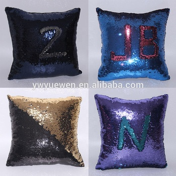 Factory wholesale custom size and color instock sequin decorative mermaid boyfriend pillow