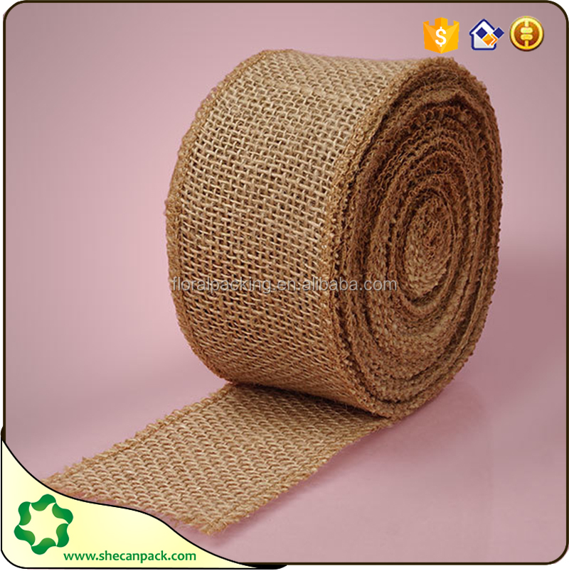 new design jute ribbon wrapping roll