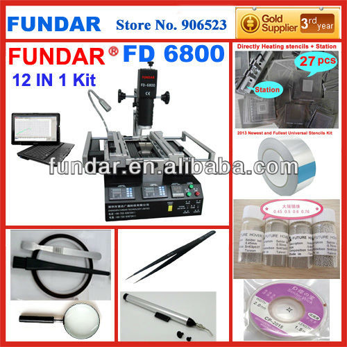 Cheap price FUNDAR FD-6800 intelligent software control 3 temperature zone BGA soldering station Upgrade from zm r590