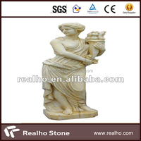 Chinese interesting stone beautiful girl carving stone status
