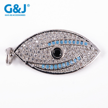 Micro Pave Blue Turquoise Evil Eye Pendant Beads For Bracelet Making jewelry