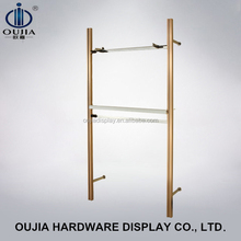 qualified fashion store wall upright post display rack