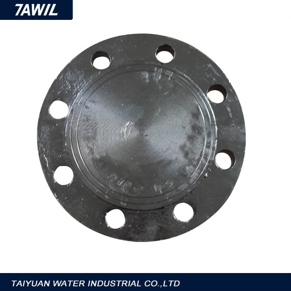 Epoxy coated ductile iron pipe fitting all flange tee