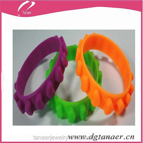 Heart shape rubber band bracelet patterns