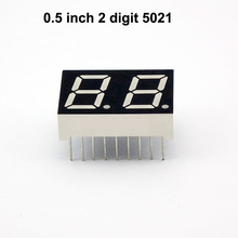 0.5 inch white color 7 segment 2 digit led numeric display