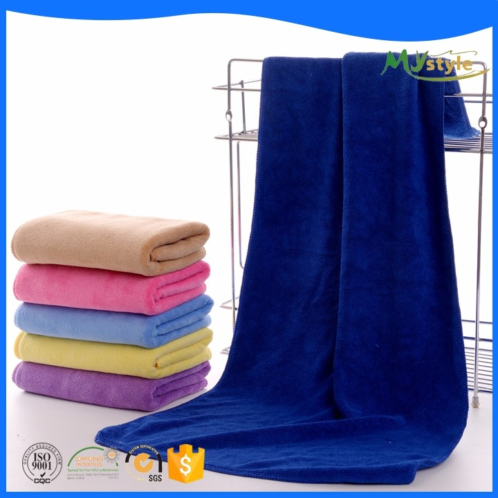 Promotional cheap durable solid microfiber towel 70% polyester 30% polyamide Microfiber Hair Towel Quick Dry Towel