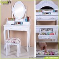 Wooden dressing table sets ,solid wood stand for  mirror and stool