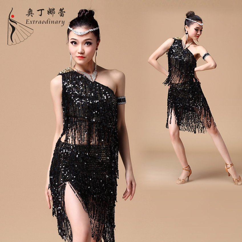 3 Color Ballroom Latin Dance Dress