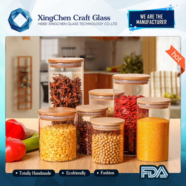 2017 pyrex clear food grade empty glass jars jars cosmetics