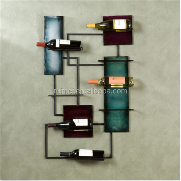 wall mounted Portable Customized Hanging Wine Rack
