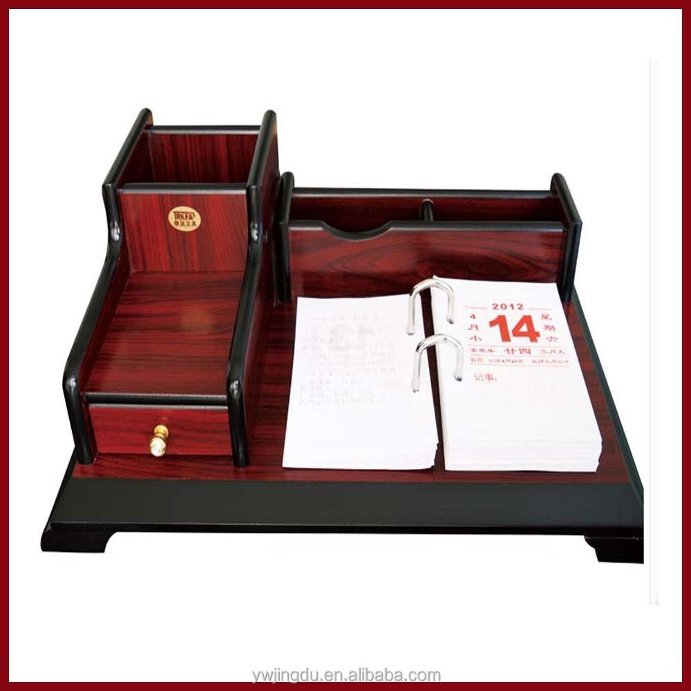 Elegant Desk Calendar Design : Elegant business wooden desk calendar islamic