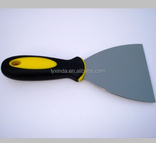 paint scraper with rubber handle, mirror polished blade