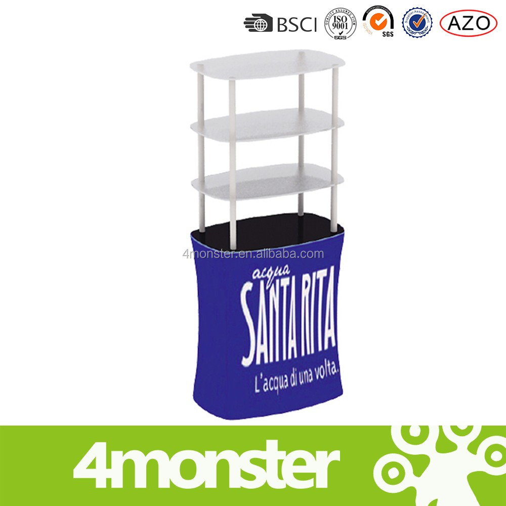 china suppliers advertising tension fabric jar display rack