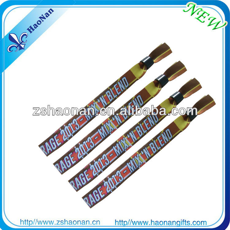 2013 new handmake magnetic fabric woven lock bracelets for events