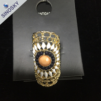 Hot selling wholesale alloy wedding ring moroccan