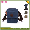 Guangzhou manufacturer bags blank small canvas shoulder bag for men