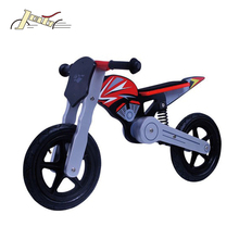 "Motorcycle Style 12"" Kids Balance Wooden Bicycles for Education Toy"
