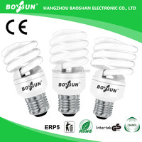 Hot Sale 8W 12W 14W 20W 23W Spiral Energy Saving Light Cfl