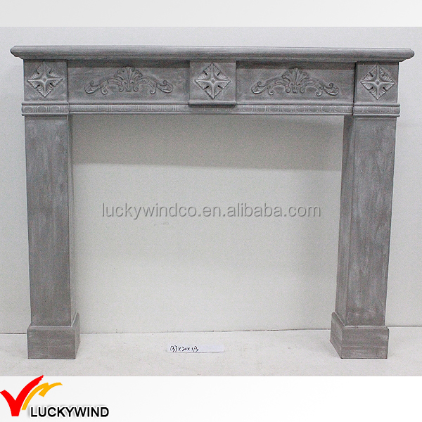 Shabby Chic Grey Wooden Fireplace Buy Wooden Fireplace