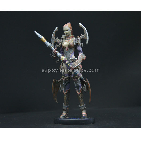 ancient armor female warrior figurine wholesale
