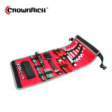 CROWNRICH 70pcs tool set in rolling tool bag Household Mixed Hand Tool Set with Bag Convenient Home Hardware Repair Kit