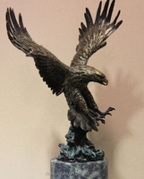 Promote product metal eagle sculptures