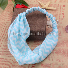 Fashion Wave Pattern Printing Bright Color Fabric Elastic Headband