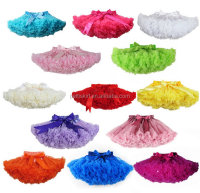 High quality! wholesale baby skirt colorful solid kids skirt chiffon pettiskirt tutu