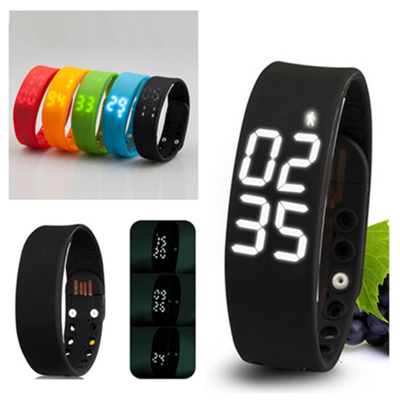 women watches Silicone Healthy Bracelet wearable watch for iPhone/Android
