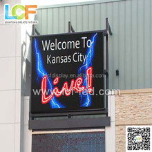 Light and thin Commercial Advertising P15 Outdoor mesh curtain LED display screen