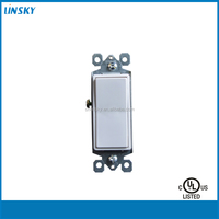 Linsky Residential Grade 15 Amp, 120/277 Volt Decora Rocker Outlet Wall Switch Single-Pole Quiet Switch