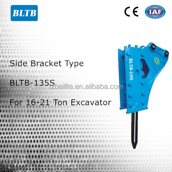 Chinese Good Price BLTB135 hydraulic hammer to break rocks, rock breaking hammer, rock hammer breaker