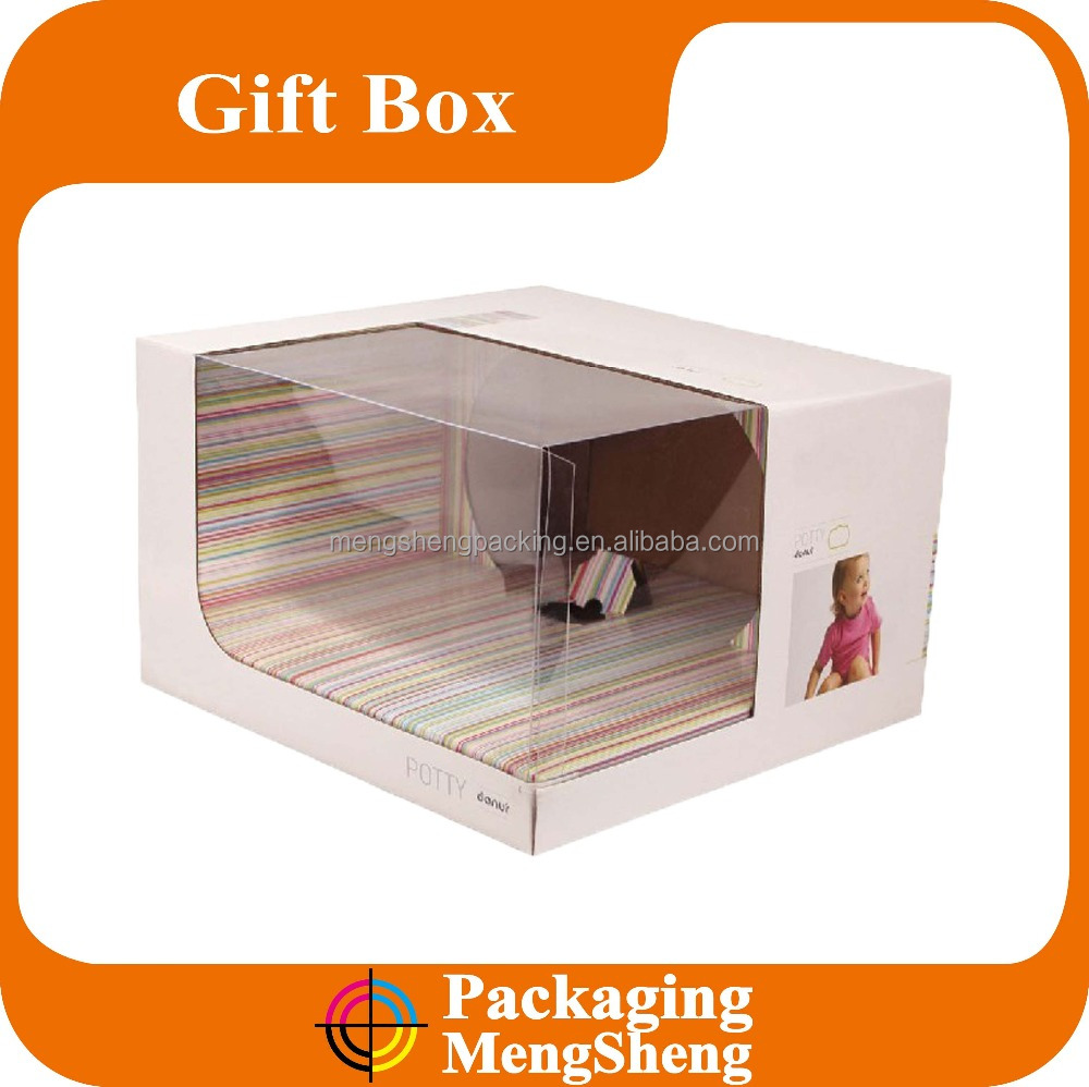 Custom new design cardboard/kraft/special paper printing packaging box with clear window