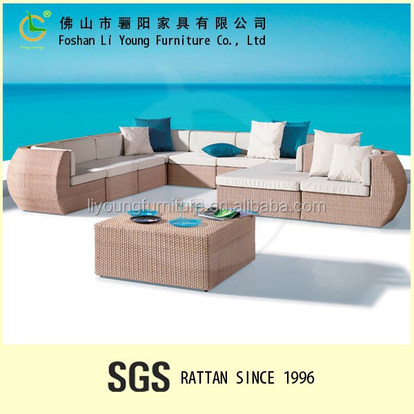 Foshan supplier made in china outdoor furniture Patio Sectional Sofa Set Sectional Sofa