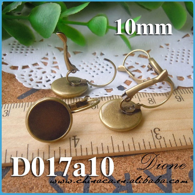 Guangzhou factory high quality jewelry cabochons earring settings ,accessories to make earrings