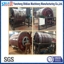 Leather softness test wooden milling drum for tanneries