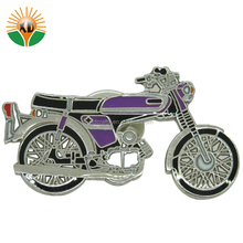 custom mini metal motorcycle broach badge for promotional gift