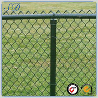 High quality wholesale green vinyl coated chain link fence