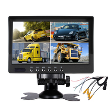 7inch 4 Split Screen TFT LCD CCTV Car Monitor with Remote Control