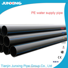 CE certificated DN1600 SDR11 polyethylene underground water supply pipe blue line poly pipe