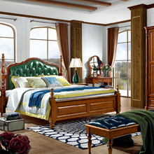 classical bedroom furniture sets / high quanity hand carve solid wood bedroom sets furniture