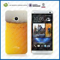 C&T Beer printing cute case for htc one,for htc one m7 case