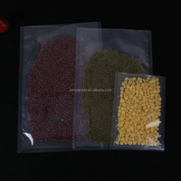 Three sides seal transparent clear pe lamination plastic food packing storage embossed vacuum bag