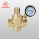 DN15 1/2'' Adjustable Brass Water Pressure Regulator Reducer W/ Gauge Meter