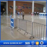 Wholesale Much Safer Crowd Control Stainless Steel Road Barriers Metal Tubular Stopper Fencing