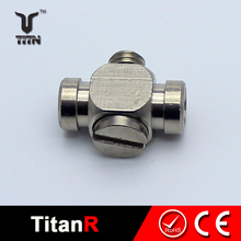 6mm aluminum pneumatic air hose fitting push fit connector pipe air fittings