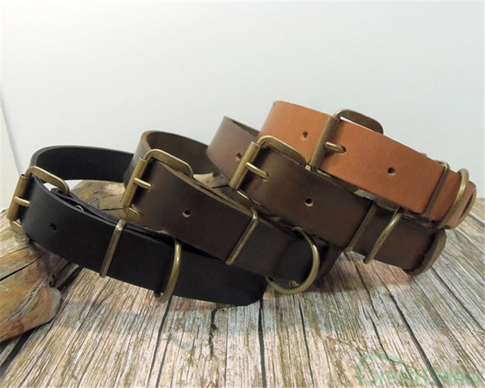 Leather Dog Leash And Collar/Wholesale Leather Dog Collar/Dog Collar Leather