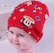 2017 winter child 100% cotton keep warm knitted cap cartoon baby hat