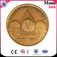 Super quality customized die casting engravable metal zinc alloy antique gold plated uk coin