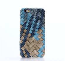 Customized knitting leatherette anti gravity phone case for iphone 6